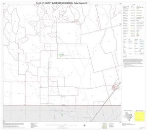 Primary view of object titled 'P.L. 94-171 County Block Map (2010 Census): Taylor County, Block 14'.
