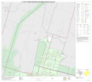 Primary view of object titled 'P.L. 94-171 County Block Map (2010 Census): Wharton County, Inset B01'.
