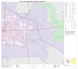 Primary view of object titled 'P.L. 94-171 County Block Map (2010 Census): Lamar County, Inset A02'.