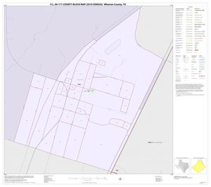 Primary view of object titled 'P.L. 94-171 County Block Map (2010 Census): Wharton County, Inset A01'.