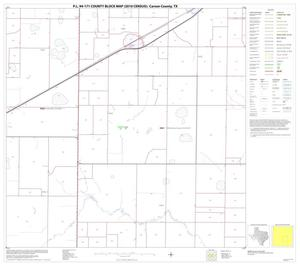 Primary view of object titled 'P.L. 94-171 County Block Map (2010 Census): Carson County, Block 11'.