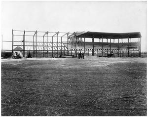Primary view of object titled '[Spudders Baseball Stadium Under Construction]'.