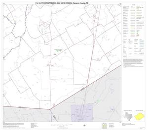 Primary view of object titled 'P.L. 94-171 County Block Map (2010 Census): Navarro County, Block 27'.