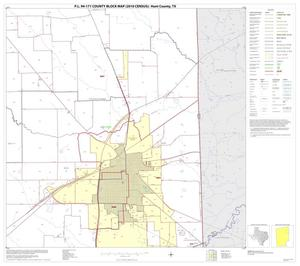 Primary view of object titled 'P.L. 94-171 County Block Map (2010 Census): Hunt County, Block 8'.