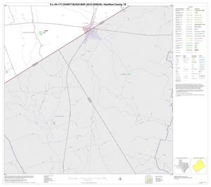Primary view of object titled 'P.L. 94-171 County Block Map (2010 Census): Hamilton County, Block 18'.