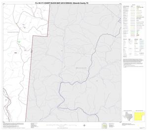 Primary view of object titled 'P.L. 94-171 County Block Map (2010 Census): Edwards County, Block 20'.