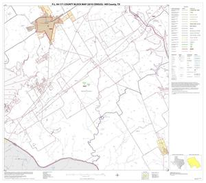 Primary view of object titled 'P.L. 94-171 County Block Map (2010 Census): Hill County, Block 14'.