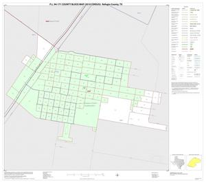 Primary view of object titled 'P.L. 94-171 County Block Map (2010 Census): Refugio County, Inset D01'.