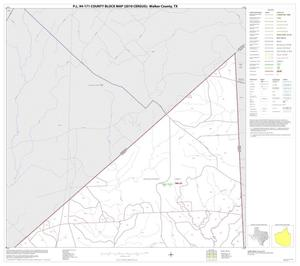 Primary view of object titled 'P.L. 94-171 County Block Map (2010 Census): Walker County, Block 1'.