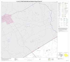 Primary view of object titled 'P.L. 94-171 County Block Map (2010 Census): Burleson County, Block 1'.
