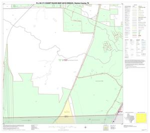 Primary view of object titled 'P.L. 94-171 County Block Map (2010 Census): Denton County, Block 82'.