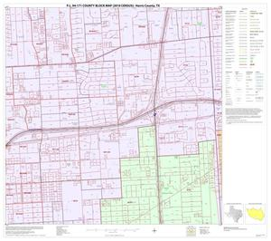 Primary view of object titled 'P.L. 94-171 County Block Map (2010 Census): Harris County, Block 216'.