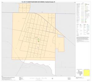 Primary view of object titled 'P.L. 94-171 County Block Map (2010 Census): Hansford County, Inset B01'.