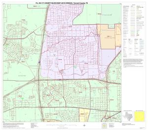 Primary view of object titled 'P.L. 94-171 County Block Map (2010 Census): Tarrant County, Block 34'.