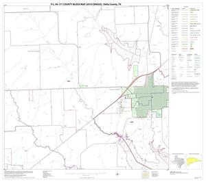 Primary view of object titled 'P.L. 94-171 County Block Map (2010 Census): Delta County, Block 7'.