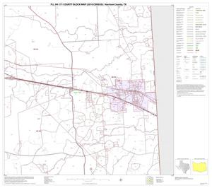 Primary view of object titled 'P.L. 94-171 County Block Map (2010 Census): Harrison County, Block 15'.