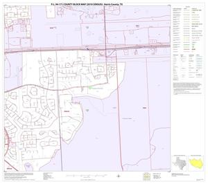 Primary view of object titled 'P.L. 94-171 County Block Map (2010 Census): Harris County, Block 191'.