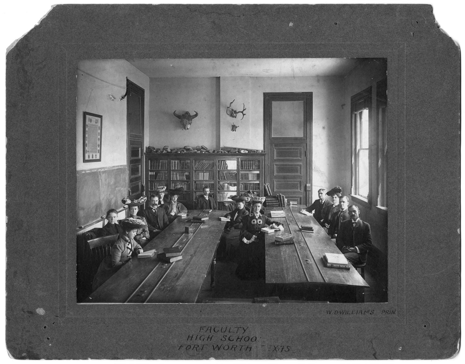 Faculty of Fort Worth High School, 1900                                                                                                      [Sequence #]: 1 of 1