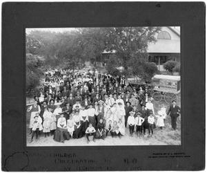 Primary view of object titled 'Carl Schilder Family Celebration at Herman Park, March 26, 1905'.