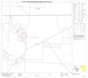 Primary view of object titled 'P.L. 94-171 County Block Map (2010 Census): El Paso County, Block 66'.