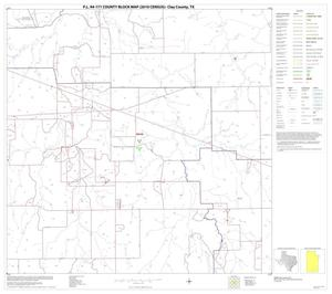 Primary view of object titled 'P.L. 94-171 County Block Map (2010 Census): Clay County, Block 22'.