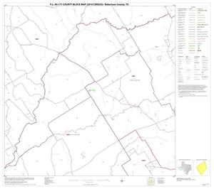 Primary view of object titled 'P.L. 94-171 County Block Map (2010 Census): Robertson County, Block 9'.