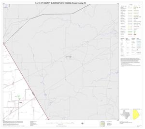 Primary view of object titled 'P.L. 94-171 County Block Map (2010 Census): Brown County, Block 10'.