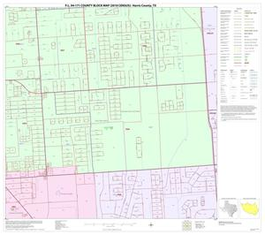 Primary view of object titled 'P.L. 94-171 County Block Map (2010 Census): Harris County, Block 242'.