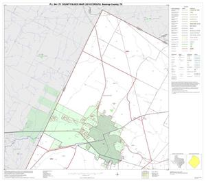 Primary view of object titled 'P.L. 94-171 County Block Map (2010 Census): Bastrop County, Block 1'.