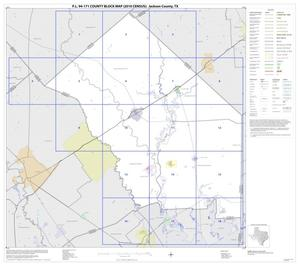 Primary view of object titled 'P.L. 94-171 County Block Map (2010 Census): Jackson County, Index'.