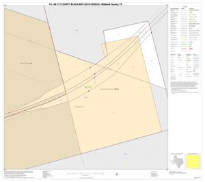 Primary view of object titled 'P.L. 94-171 County Block Map (2010 Census): Midland County, Inset B01'.