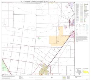 Primary view of object titled 'P.L. 94-171 County Block Map (2010 Census): San Patricio County, Block 8'.