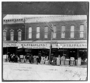 Primary view of object titled 'W.C Stripling Low Cash Store, ca. 1890's'.