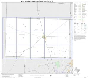 Primary view of object titled 'P.L. 94-171 County Block Map (2010 Census): Andrews County, Index'.