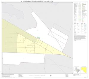 Primary view of object titled 'P.L. 94-171 County Block Map (2010 Census): Val Verde County, Inset C01'.