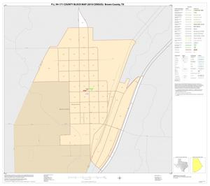 Primary view of object titled 'P.L. 94-171 County Block Map (2010 Census): Brown County, Inset C01'.
