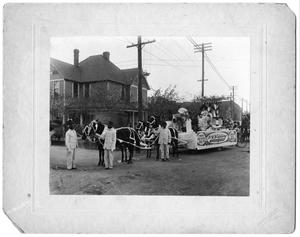 Primary view of object titled 'Parade Floats - W.DC Striplin, ca. 1890'.