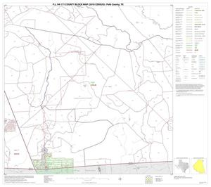 Primary view of object titled 'P.L. 94-171 County Block Map (2010 Census): Polk County, Block 25'.