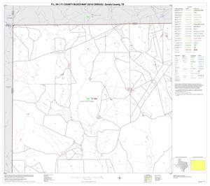 Primary view of object titled 'P.L. 94-171 County Block Map (2010 Census): Zavala County, Block 1'.