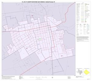 Primary view of object titled 'P.L. 94-171 County Block Map (2010 Census): Caldwell County, Inset A01'.