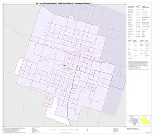 Primary view of object titled 'P.L. 94-171 County Block Map (2010 Census): Comanche County, Inset A01'.