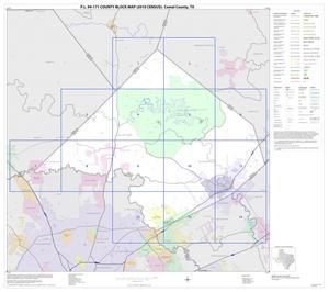 Primary view of object titled 'P.L. 94-171 County Block Map (2010 Census): Comal County, Index'.