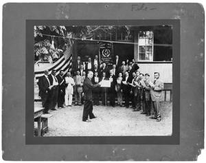 Primary view of object titled 'Men's German Chorus Ensemble'.