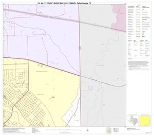 Primary view of object titled 'P.L. 94-171 County Block Map (2010 Census): Dallas County, Block 45'.