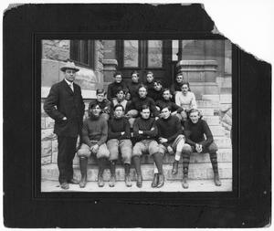 Primary view of object titled 'Central High School Football Players, 1908'.