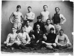 Primary view of object titled '[First Football Team, University of Texas, 1893]'.