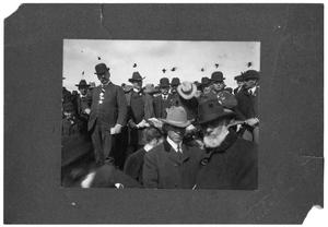 Primary view of object titled 'Cornerstone Laying for packing houses in Ft. Worth TX, March 12, 1902'.