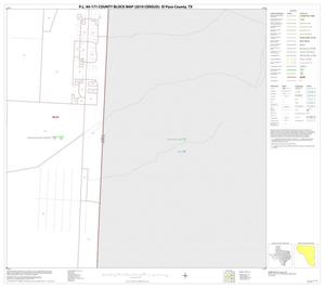 Primary view of object titled 'P.L. 94-171 County Block Map (2010 Census): El Paso County, Block 61'.
