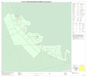 Primary view of object titled 'P.L. 94-171 County Block Map (2010 Census): Llano County, Inset C01'.