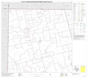 Primary view of object titled 'P.L. 94-171 County Block Map (2010 Census): Reagan County, Block 1'.